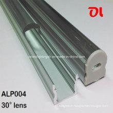 Profilé en aluminium d'angle de faisceau anodisé par LED