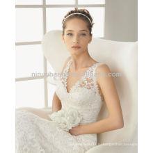 Сексуальная V-образным вырезом спинки Русалка свадебные платья кружева свадебные платья 2014 NB006