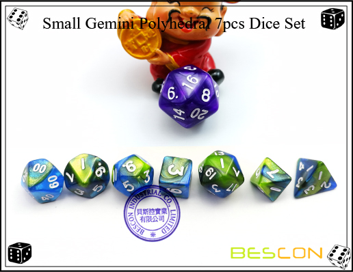 Small Gemini Polyhedral 7pcs Dice Set