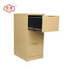 Beige color vertical drawer protect foot file storage cabinet
