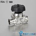 Санитарный мембранный клапан из нержавеющей стали (новая конструкция)
