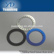 OEM Custom CNC anodisé rondelles rondes en aluminium rouge orange noir bleu etc