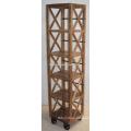 Wooden Industrial Urban Loft Bookcase