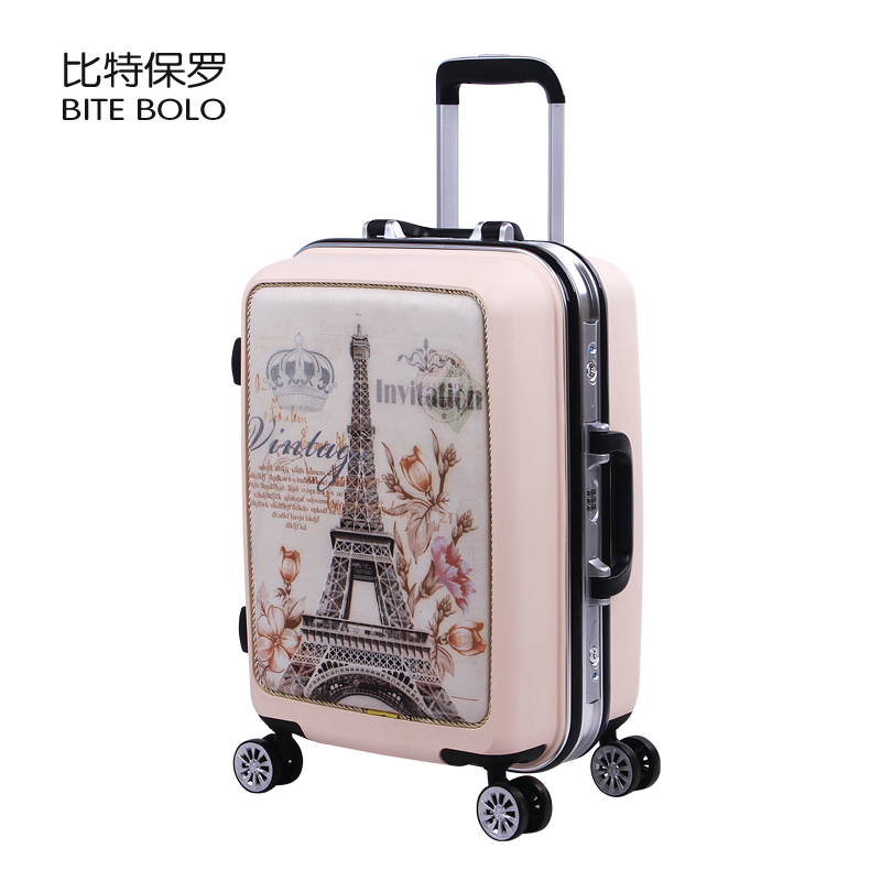 cartoon-cute-lovely-children-luggage-trolley-suitcase