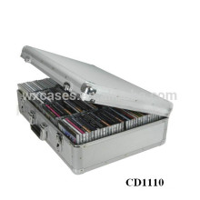 caja de almacenaje de mejor vendedor CD 120 discos (10mm) aluminio CD DVD por mayor