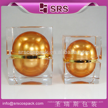 srs new biodegradable cosmetic container , cream luxury skin care packaging , cosmetic square plastic container manufacturer