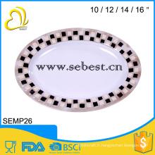 melamine oval serving plate;oval shape plate