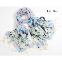 Women's scarf 100% Wool Pashmina Cashmere Shawl/Wrap Floral Scarves Shawls