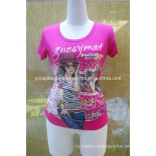 Sublimation Druck Rhinestone Shirt, Damen T-Shirt