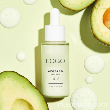 Private Label Natural Avocado Hydraterende Glowing Skin Face Milk Serum