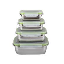 Preuve de fuite de boîte à lunch de conservation des aliments d'acier inoxydable
