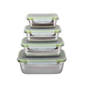 Caja de almuerzo de preservación de alimentos de acero inoxidable a prueba de fugas