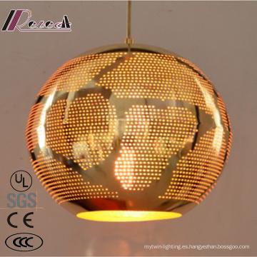 Fashion and Ancient Gold Hollow Iluminación pendiente con barra