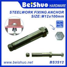 M12X100 316 Нержавеющая сталь Boxbolt для строительства