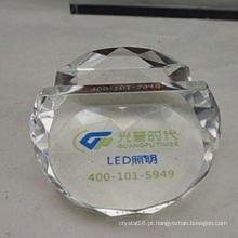 Decoração de promoção de suporte de cartão de papel de cristal de cristal (ks14060)