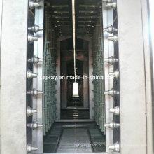 Sistema de pintura líquida com pré-tratamento de pulverização