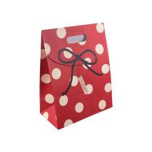 New Fashion Luxury Matt Glossy Surface Hot Stamping Gold Logo Handle Paper Shopping Gift Bag