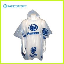 All Over Logo Printing Disposable PE Raincoat Rvc-001