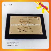 LB82 Высококачественная металлическая этикетка оптовая кожаный пластырь для одежды