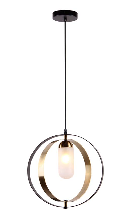 Simple Chandelier Black And Copper