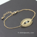 Alliage plaqué or chaine Bracelet Evil Eye Bracelet en or