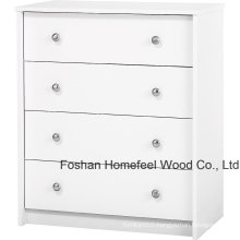 Bedroom Furniture White 4 Drawer Dresser Chest Shelf Organizer