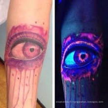 Lueur couleur-rapide de conception unique horrible dans l'autocollant foncé de tatouage pour la partie de Holloween