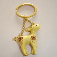 Aluminiumlegierungs-lexquisite reizender Kitz-Schlüsselring für goldenes Hardware-Geburtstags-Geschenk