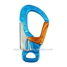 A728 Aluminium Large Keylock 30kN CE Standard Industrielle Schutzausrüstung Sicherheit Double Action Snap Hook