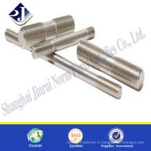 Toutes les tailles goujon en acier inoxydable Boulon à haute résistance A2-70 Boulon en acier inoxydable
