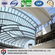 Estructura de acero moderna cubierta para edificio comercial