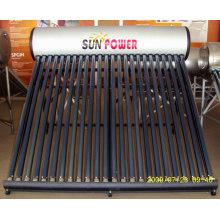 Unbeaufschlagter Solarwarmwasserbereiter Edelstahl