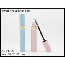 Encantador y vacío plástico redondo Mascara tubo AG-PM05, empaquetado cosmético de AGPM, colores/insignia de encargo