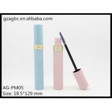 Encantadora & vazio plástico redondo tubo de rímel AG-PM05, embalagens de cosméticos do AGPM, cores/logotipo personalizado