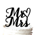 """""""Mr Love Mrs """" Wedding Cake Topper with Heart"""