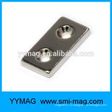 Постоянный малый неодимовый магнит с отверстиями