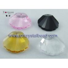 verre coloré coquillage perle forme