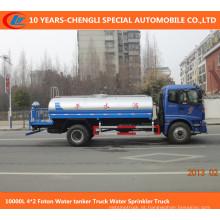 Caminhão do sistema de extinção de incêndios da água do caminhão de petroleiro da água de 10000L 4 * 2 Foton