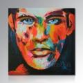 Handgemalte moderne Segeltuch-Pop-Kunst-Malerei-Porträt-Ölgemälde von Ihrem Foto