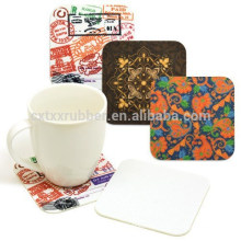 natural rubber coaster, printing cup coaster
