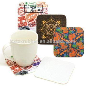 natural rubber coaster, printing cup coaster