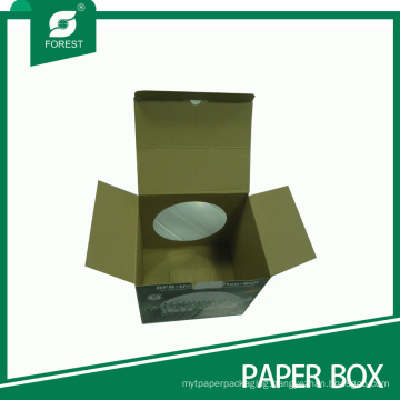 Corrugated Cardboard Football Display Box with Window