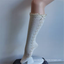 Dreamy White Lace Nylon Embroidered Princess High Socks