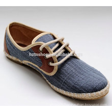 China popular beautiful comfort canvas lace-up women shoes causal shoes