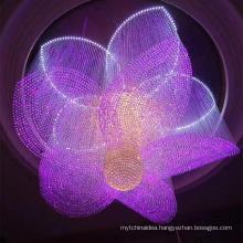 Contemporary glass chandelier indoor light fixtures modern hotel led pendant light