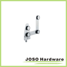 Glass Hardware Connector Curve Top Pivot ED001