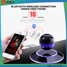 Multicolor LED 360 Degree and Portable Levitating Bluetooth Speakers-Black