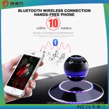 LED multicolorido de 360 graus e alto-falantes portáteis Bluetooth Levitating-Black