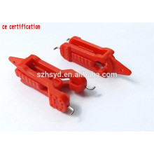 Approve CE anti-slid 8mm lock hole achieve management by multi people miniature circuit breaker lockout