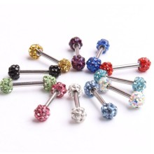 Surgical Steel Double Disco Ball Barbell